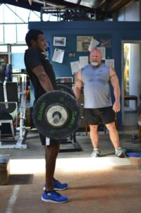 Coaching Nira one the coaches from Franks Brothers Crossfit