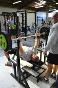Hitting a little bench press with 130kg